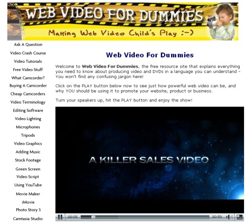 web video for dummies